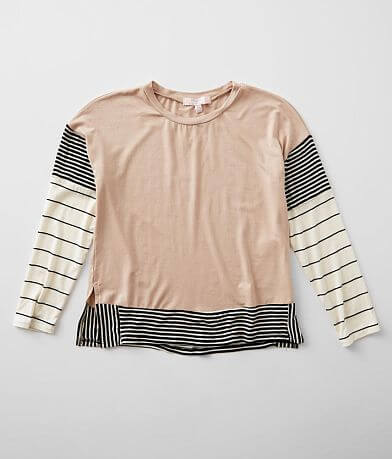 Girls - Moa Moa Mixed Stripe Top