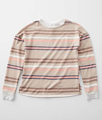 Girls - BKE Striped Drop Shoulder Top