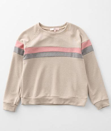 Girls - Moa Moa Brushed Knit Color Block Pullover
