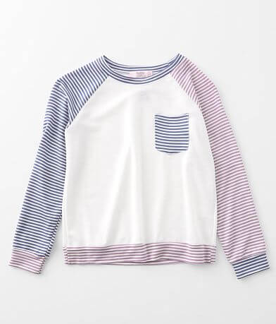 Girls - Moa Moa Striped Color Block Top