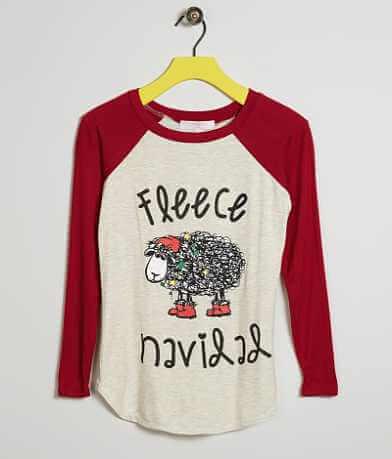 Girls - Moa Moa Fleece Navidad T-Shirt