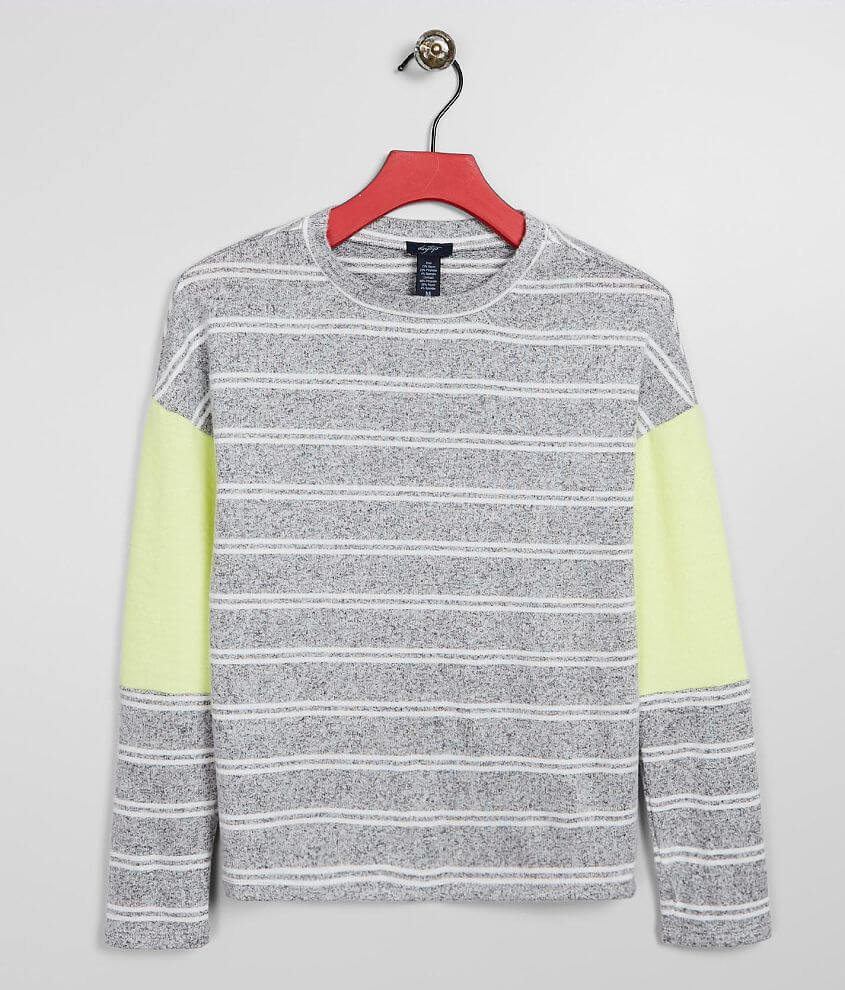 Girls - Daytrip Brushed Knit Striped Top front view