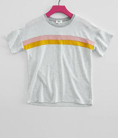 Girls - BKE Stripe Inset T-Shirt