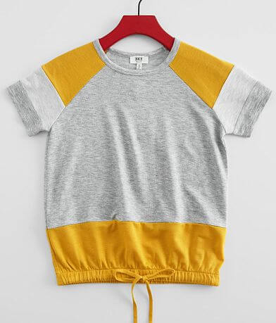 Girls - BKE Heathered Color Block T-Shirt