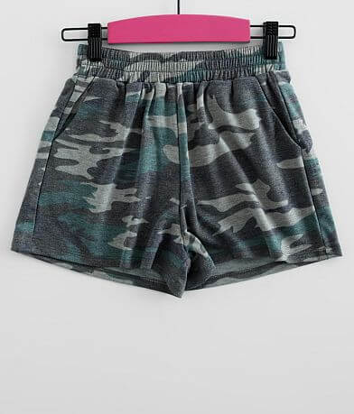 Girls - Daytrip Camo Knit Short