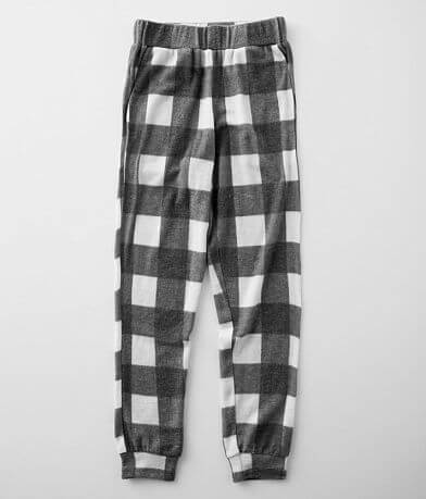 Girls - BKE Brushed Buffalo Plaid Jogger
