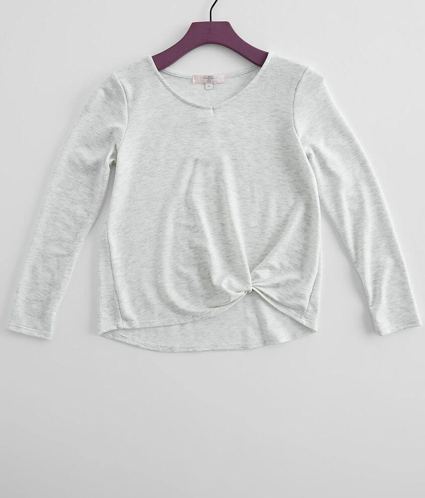 Girls - Moa Moa Twisted Hem Top front view