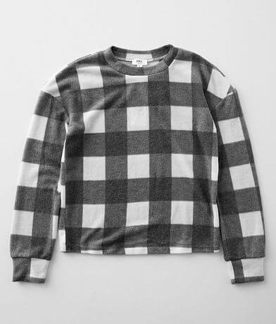 Girls - BKE Brushed Buffalo Plaid Pullover