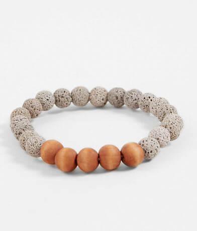 BKE Lava Rock & Wooden Bracelet