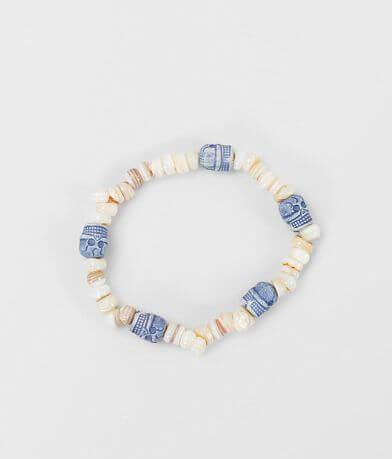 BKE Skull & Puka Shell Bracelet
