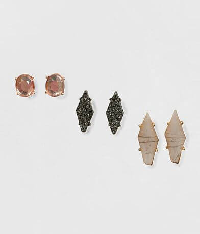 BKE Stone Earring Set