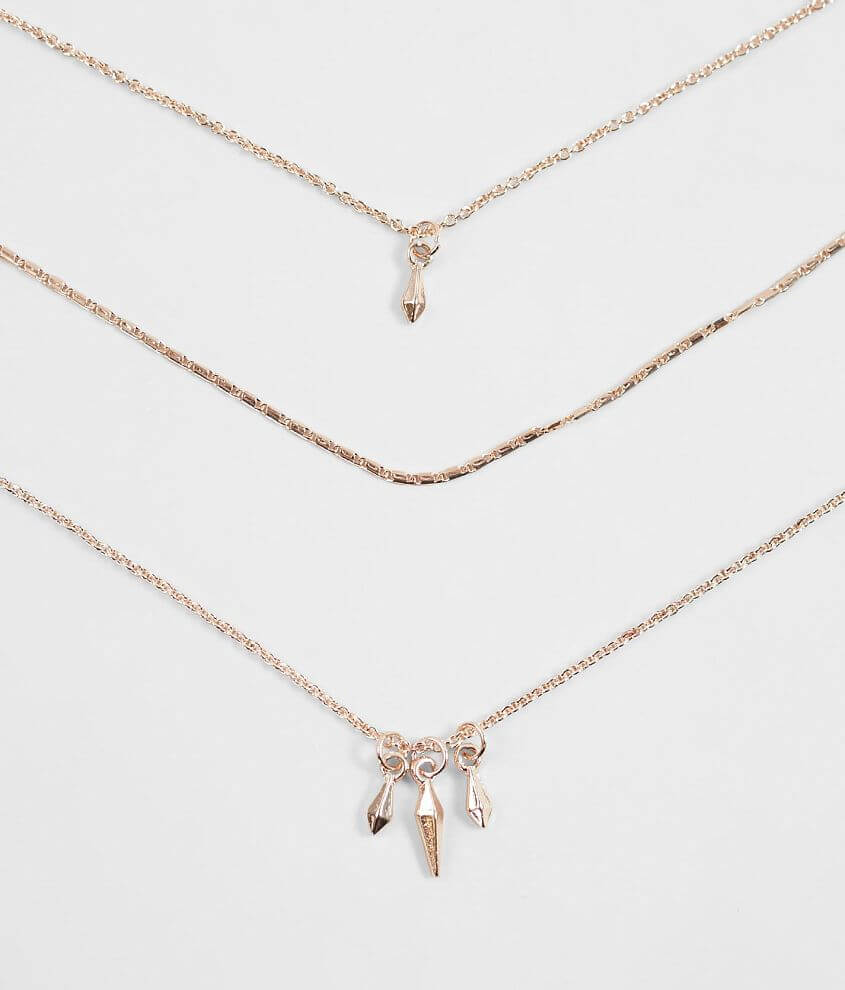 BKE Dainty 3 Pack Necklace Set front view