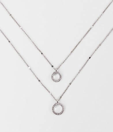 BKE Dainty Double Ring Necklace Set