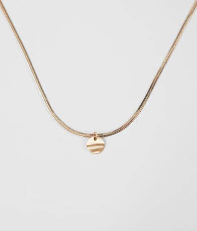 BKE Disc Pendant Necklace