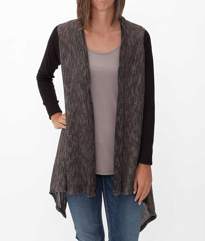 Aggie Open Weave Cardigan front view