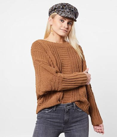 BKE Chenille Cable Knit Sweater