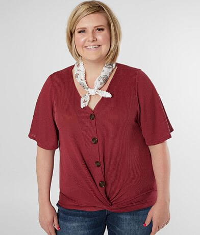 Daytrip Twisted Hem Top - Plus Size Only