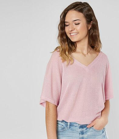 The Moon Ribbed Knit Top