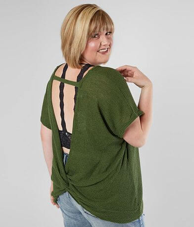 Daytrip Open Twisted Back Top - Plus Size Only
