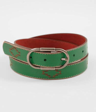 Most Wanted Turquoise Patterned Leather Belt