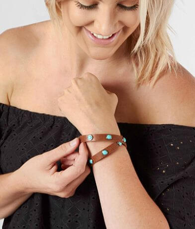Most Wanted Turquoise Studded Wrap Bracelet