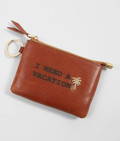 Most Wanted I Need A Vacation Leather Wallet