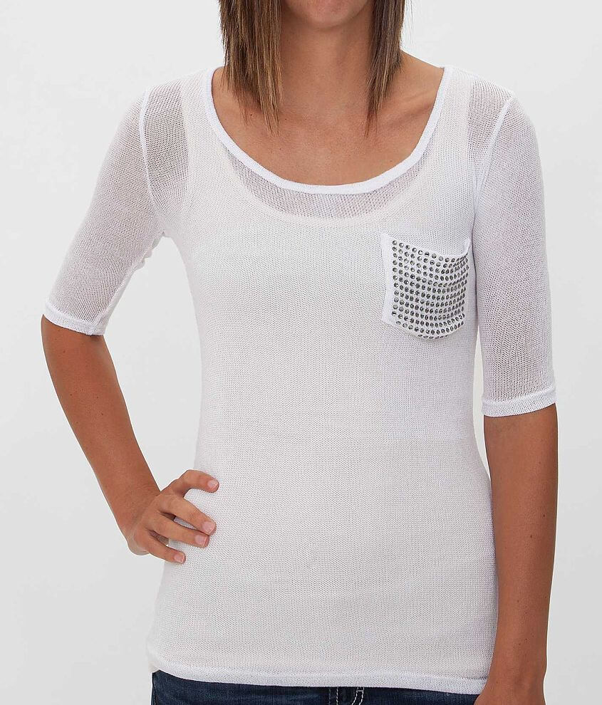 Daytrip Open Weave Top front view