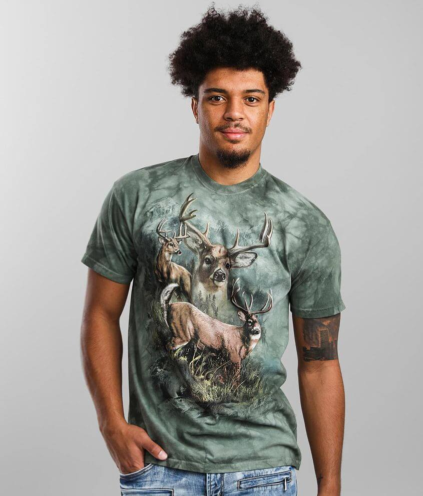 The Mountain Deer Collage T-Shirt front view