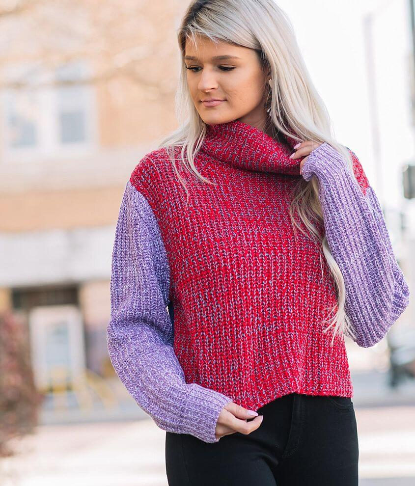 Willow & Root Color Block Pullover Sweater front view