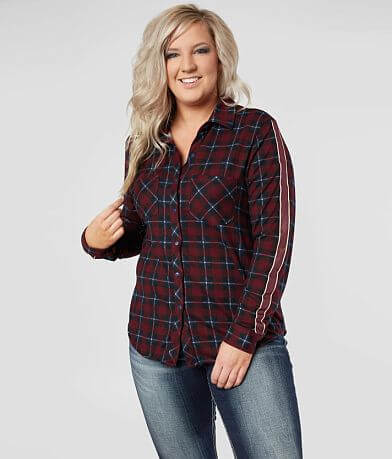 Daytrip Cozy Plaid Shirt - Plus Size Only