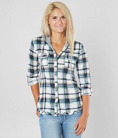 Daytrip Hooded Plaid Shirt