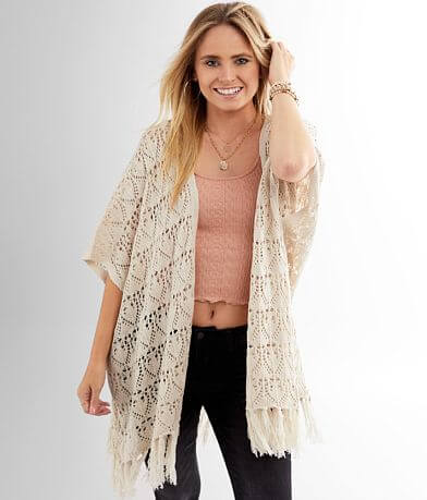 Daytrip Pointelle Crochet Cardigan Sweater