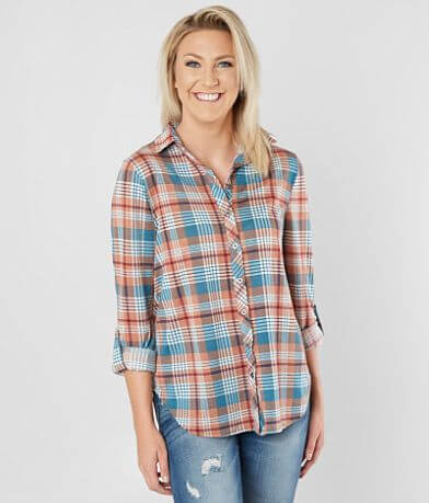 Daytrip Plaid Knit Shirt