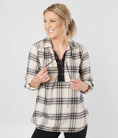 Daytrip Lace-Up Flannel Shirt