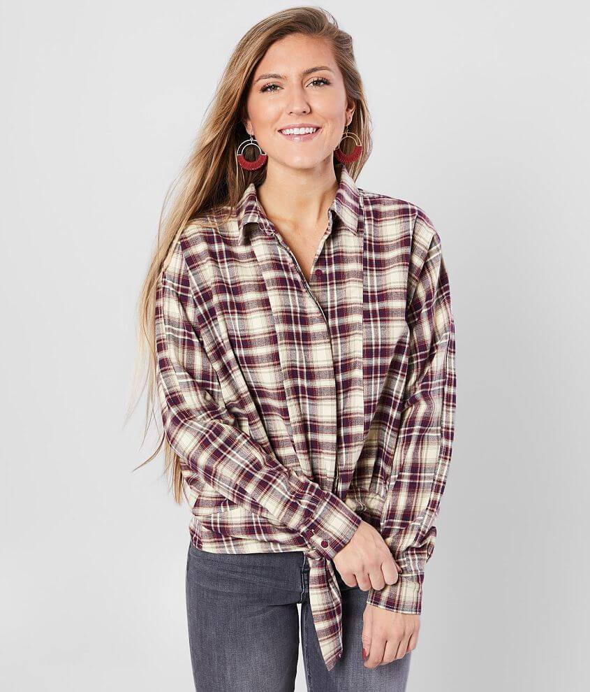 Daytrip Plaid Front Tie Top front view