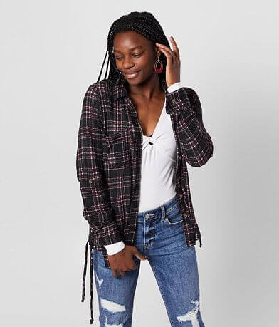 Daytrip Plaid Knit Shirt