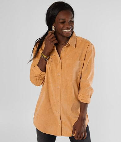 Gilded Intent Corduroy Tunic Shirt