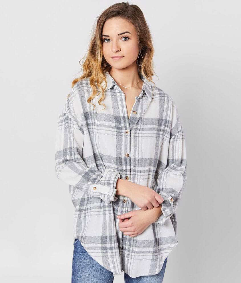 Daytrip Metallic Flannel Shirt front view