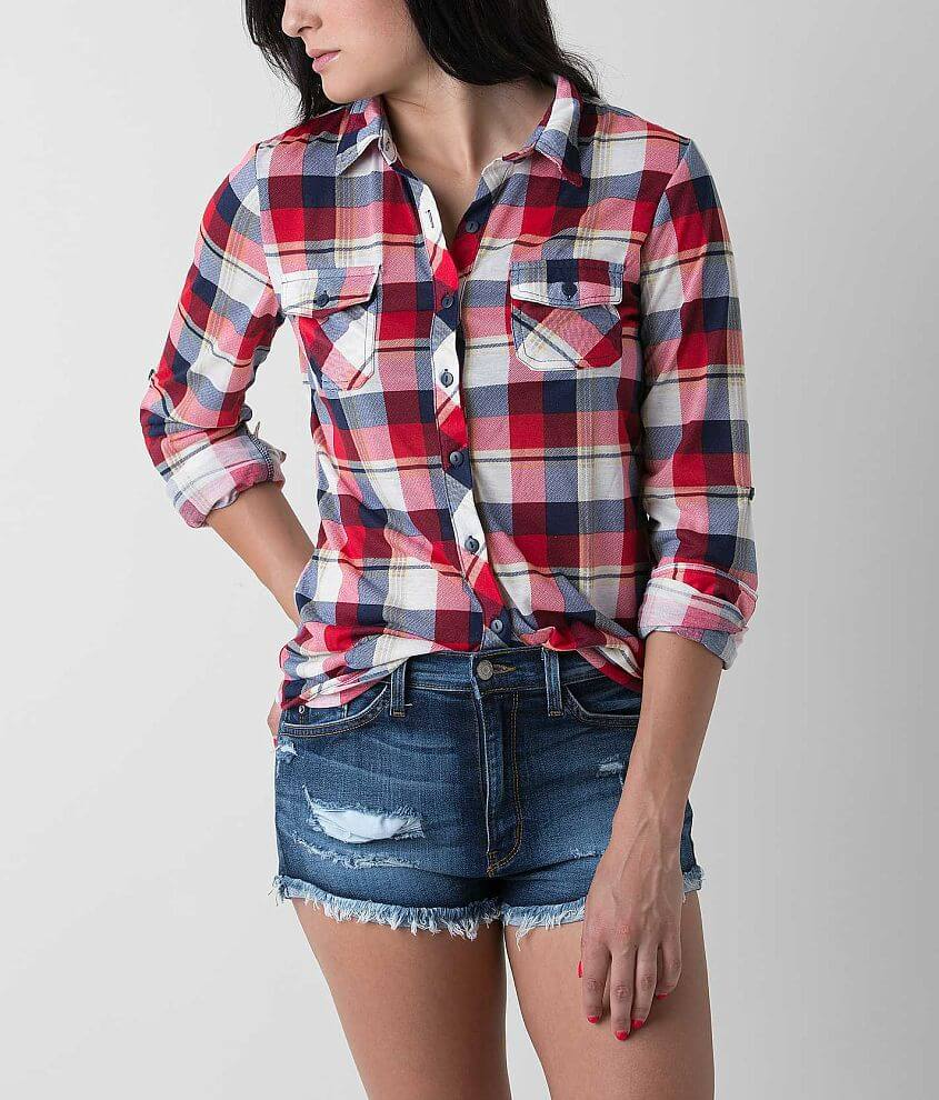 2f881579586 Passport Plaid Shirt - Women s Shirts Blouses in Red Navy White