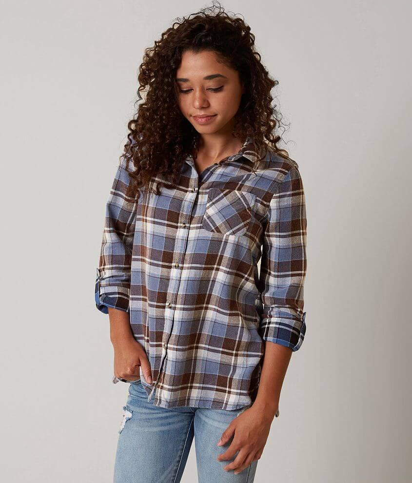 FITZ + EDDI Flannel Shirt front view