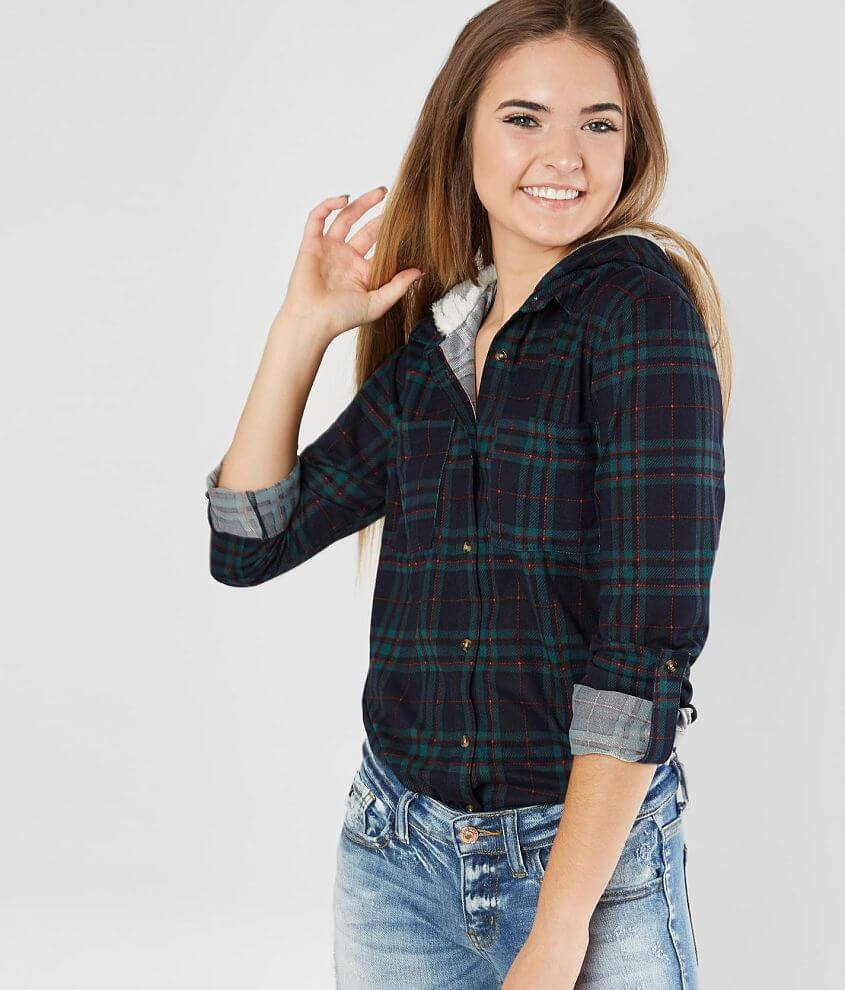 07814d6c51 Daytrip Cozy Plaid Shirt - Women's Shirts/Blouses in Green Red | Buckle