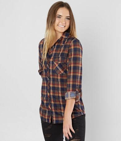 Daytrip Knit Plaid Shirt