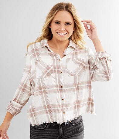 Daytrip Metallic Plaid Shirt