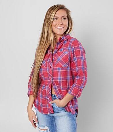 Daytrip Brushed Knit Plaid Shirt