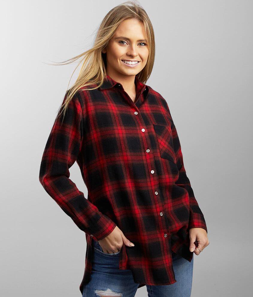 BKE Lightweight Flannel Shirt front view