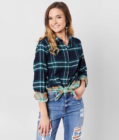 Daytrip Flannel Dip Dye Shirt