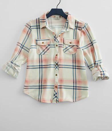 Girls - Passport Plaid Knit Shirt
