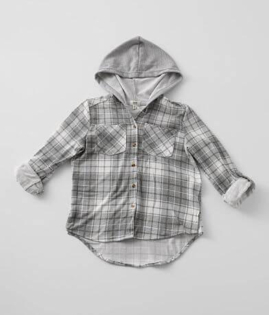 Girls - BKE Hooded Flannel Shirt