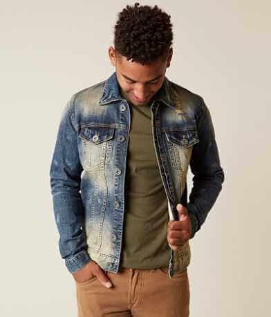 Salvage Distressed Denim Stretch Jacket