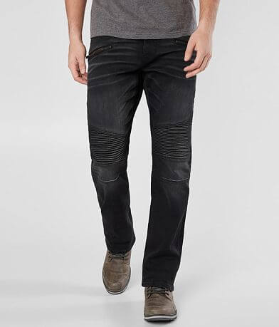 Salvage Mayhem Straight Moto Stretch Jean